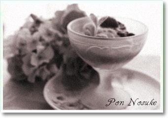 b白黒ベリーソースアイス