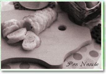 b白黒竹輪パン