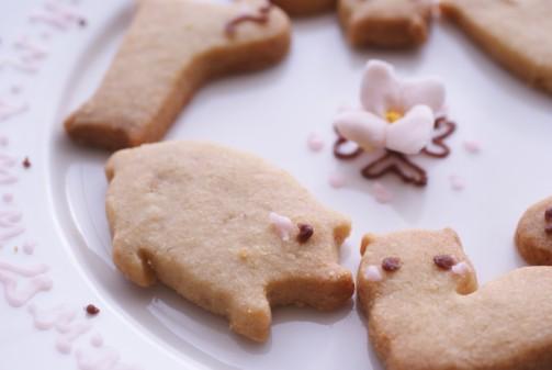 bアップ動物クッキー
