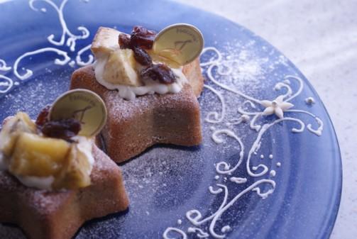 b横星型ケーキ