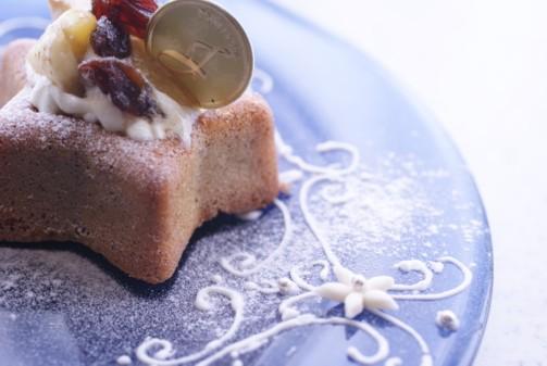 bアップ星型ケーキ