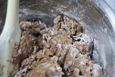 Bかき混ぜココア風味の練り込みパイ生地