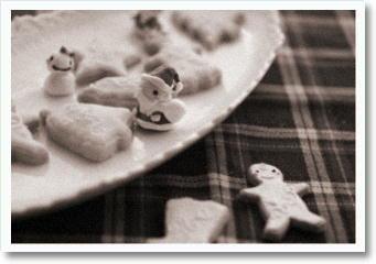 b白黒アイシングクッキー