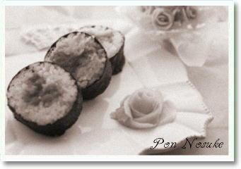 b白黒巻き寿司