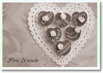 B白黒バレンタインチョコ