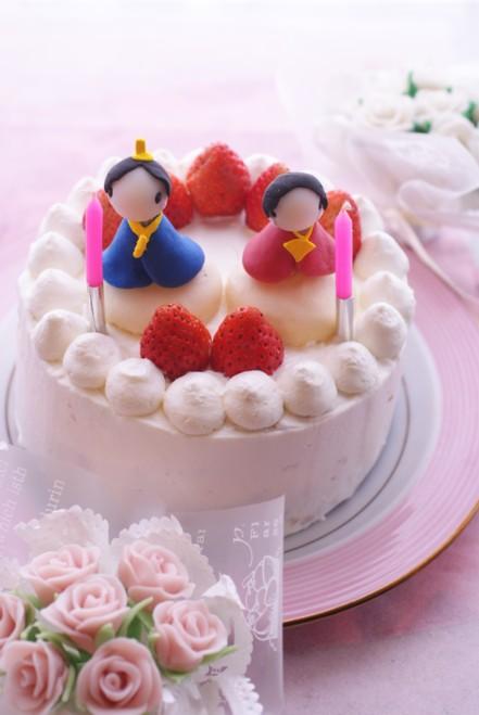 B縦雛ケーキ