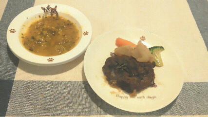 シカ肉&カボチャのス-プ