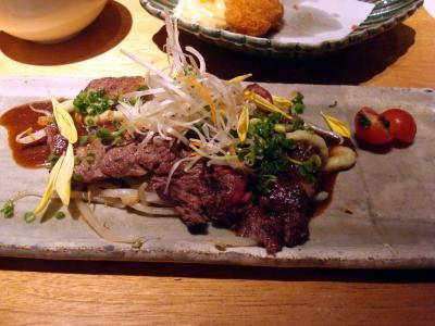 牛ロースステーキわさび焼き