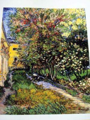 【サン=レミの療養院の庭(1889年)】
