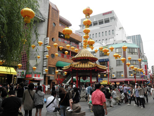 中華街の広場
