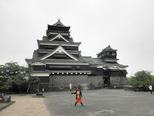 熊本城と侍
