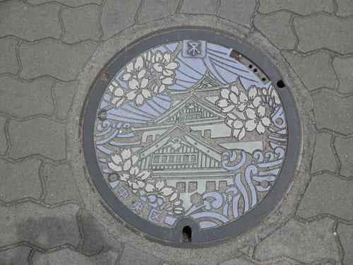 大阪城のマンホール