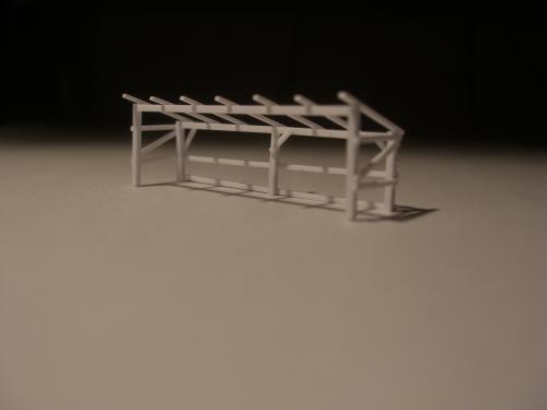 鉄道模型 保線機材置き場 2