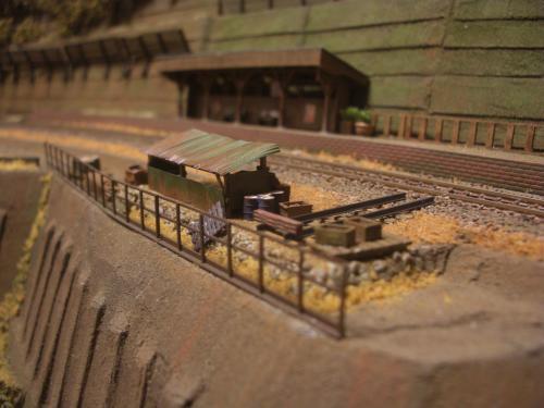 鉄道模型 保線機材置き場 1