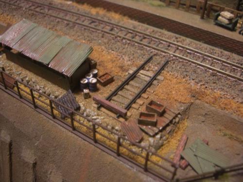 鉄道模型 保線機材置き場 7