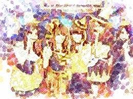 ハロウィン(淡彩点描)