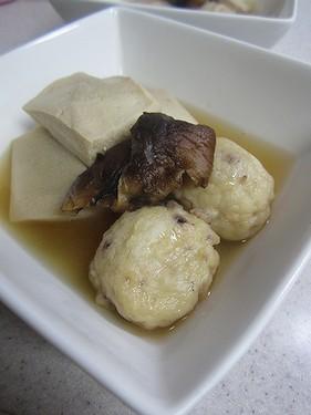 20141006 タコ団子と高野豆腐煮物
