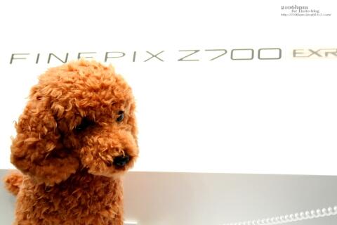 CP+2010 フジフイルムブース FINEPIX Z700コーナーのいぬいぐるみ
