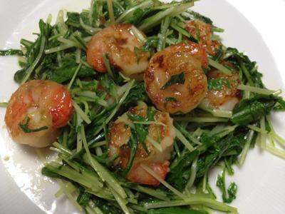 水菜とえび