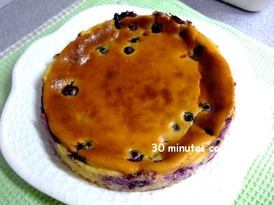 ブルーベリー入りベイクドチーズケーキ♪