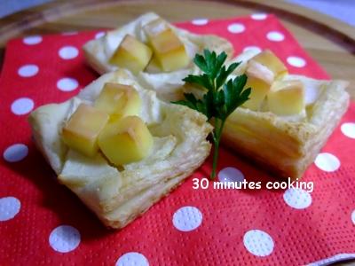 簡単★チーズとりんごのパイ♪