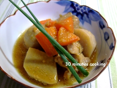 里芋と鶏肉の味噌煮