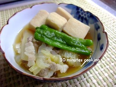 高野豆腐と白菜のあったか出汁煮♪