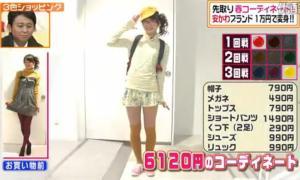 内田理央、テーマ「春のウキウキ遠足 おやつは300円まで。」