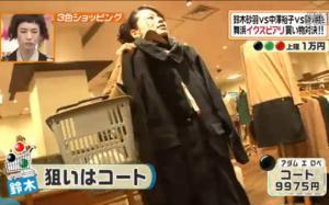 鈴木砂羽、黒のコート