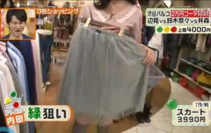 179/wg、緑のスカート