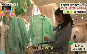 淡い緑のシャツ