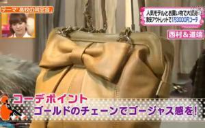 ゴールドチェーンのバッグ