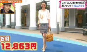 西村知美のファッションコーディネート