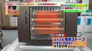 コイズミ電気ストーブKEH-0831