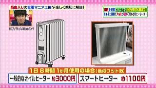 オイルヒーターとスマートヒーターの電気代比較