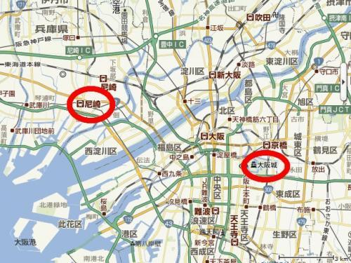 大阪周辺地図1