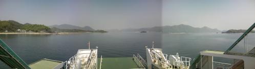 三原行きフェリー船首方向眺め1