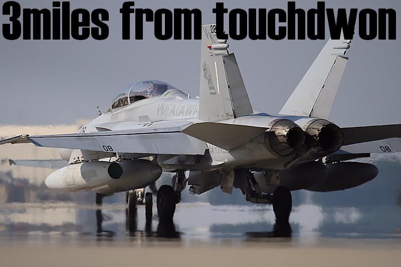 陽炎の彼方F-18