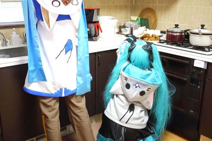 VOCALOID/初音ミク・KAITO/うちのKAITOとミクが部屋着でまったりしていたのですが