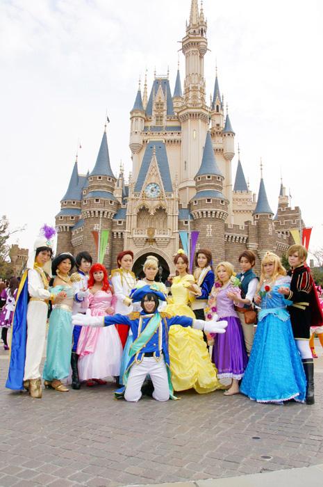 ディズニーハロウィン/プリンセス&プリンス集合