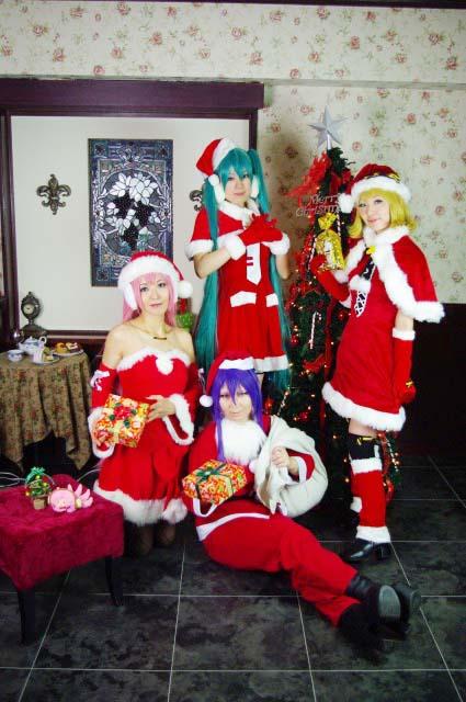 Vocaloid /ProjectDIVAクリスマスモジュール合わせ/初音ミク・鏡音リン・巡音ルカ・神威がくぽ