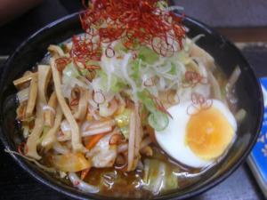 10071212大勝軒・純和風辛野菜つけ麺 850円