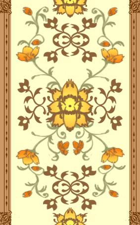 エスニック風オレンジ壁紙.jpg