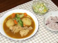 7/12 夕食 スープカレー、コールスロー、十穀ご飯