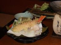 5/2 カニと山菜の天ぷら  甲羅本店