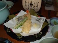 5/2 カニと野菜の天ぷら  甲羅本店