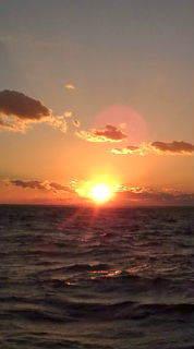 愛する猫ちんと船釣りと観光地めぐり-夕日