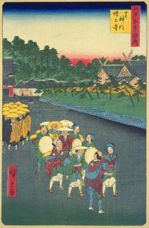 名所江戸百景/芝神明増上寺