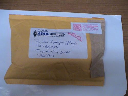 DXCC封筒