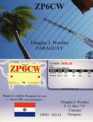 ZP6CW QSL